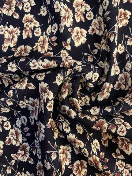 Regency Floral Viscose - Midnight