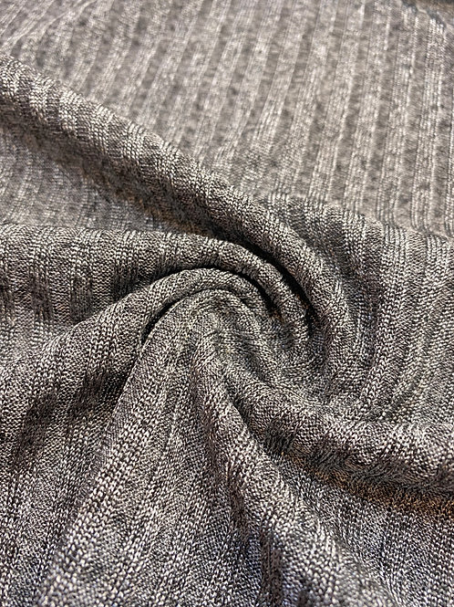 Grey Ribbed Jersey