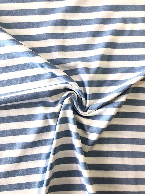 Eggshell Stripe Cotton Jersey