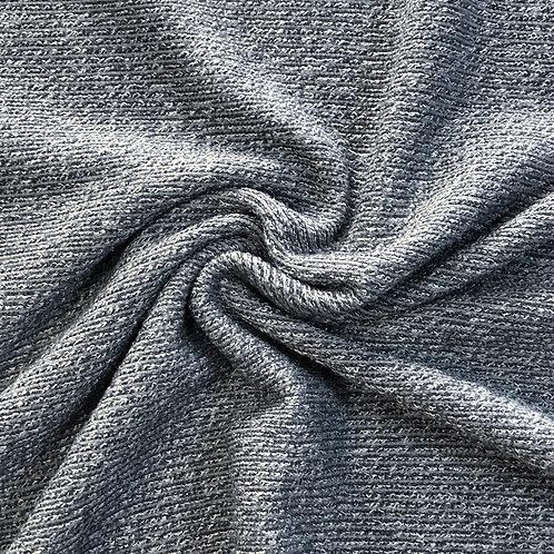 Super Soft Ribbed Viscose Jersey - Grey