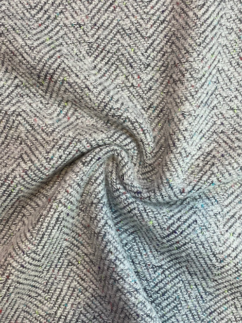 Herringbone Sprinkle Wool Coating
