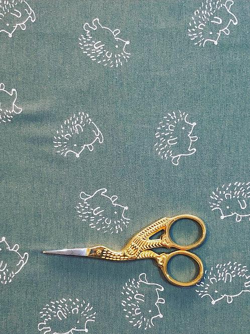 Sage Hedgehog Cotton Jersey
