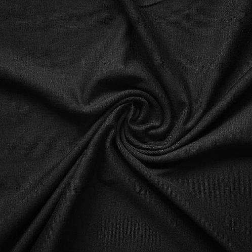 Black Cotton Jersey