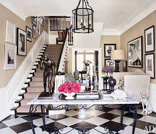 Handpainted Checkered Floors Featured in Architectural Digest