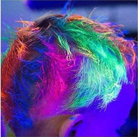 Gel UV fluorescent cheveux fluo Neon_fil