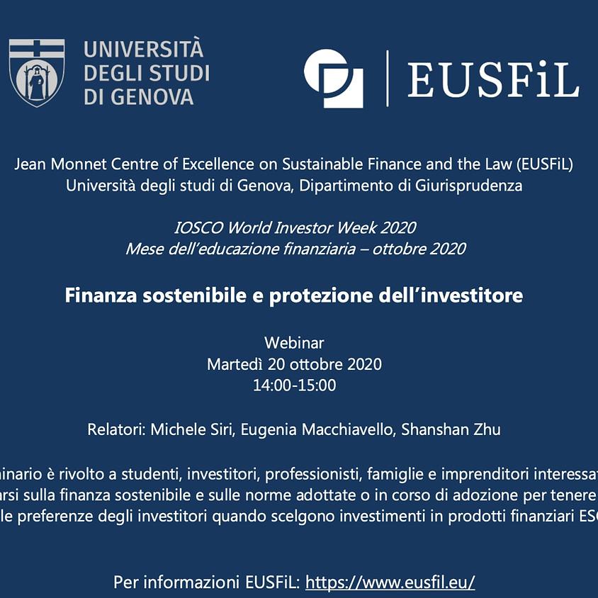 Finanza sostenibile e protezione degli investitori