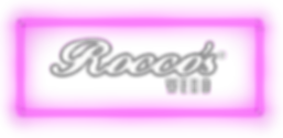 Roccos WEHO logo surounded by glowing neon lighs