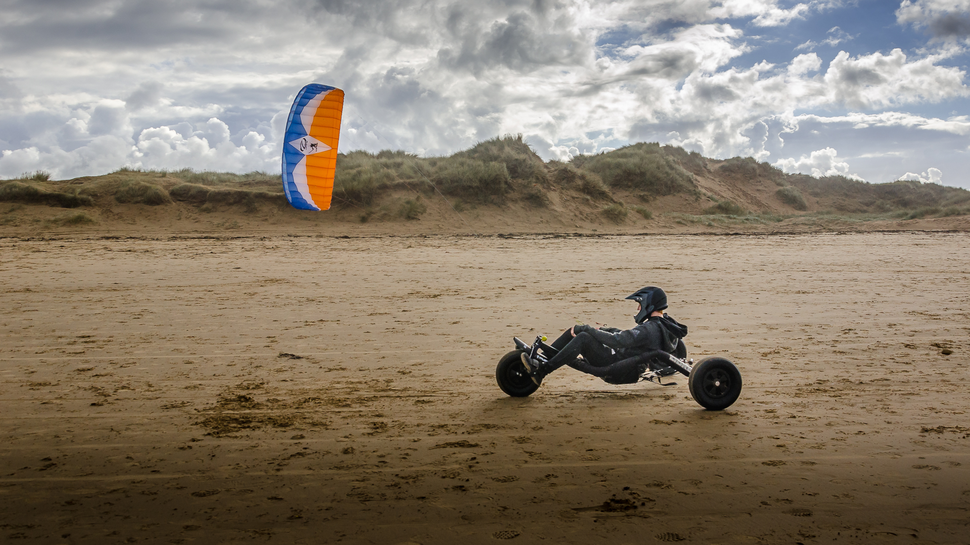 Kite Buggy at Coatham Beach