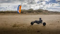 Kite Buggy at Coatham Beach