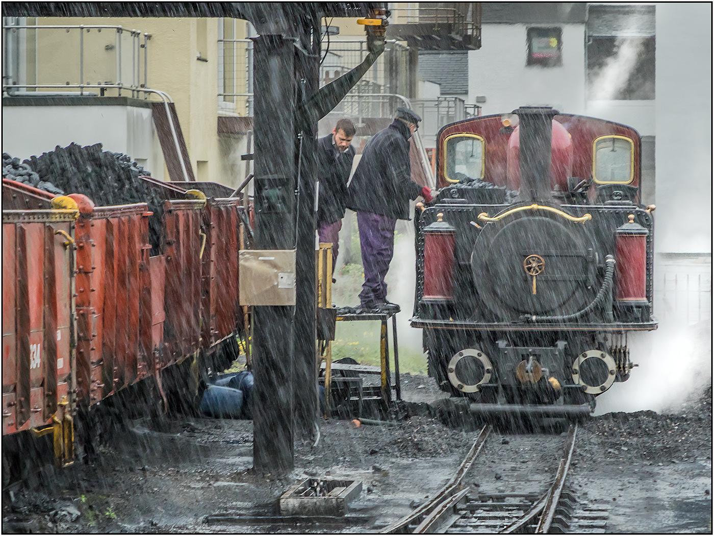 Just Coaling in the Rain