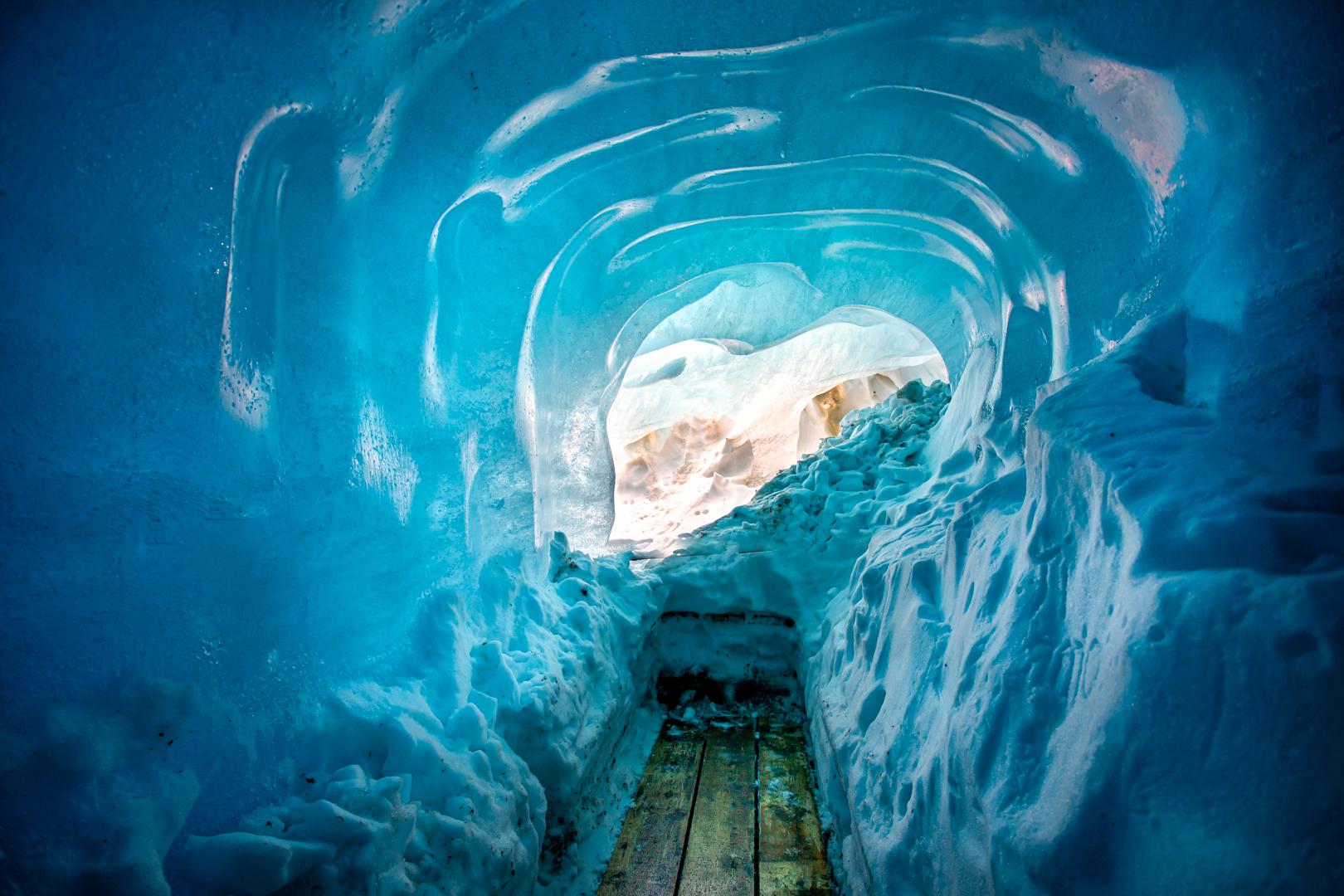 Inside the Blue Glacier