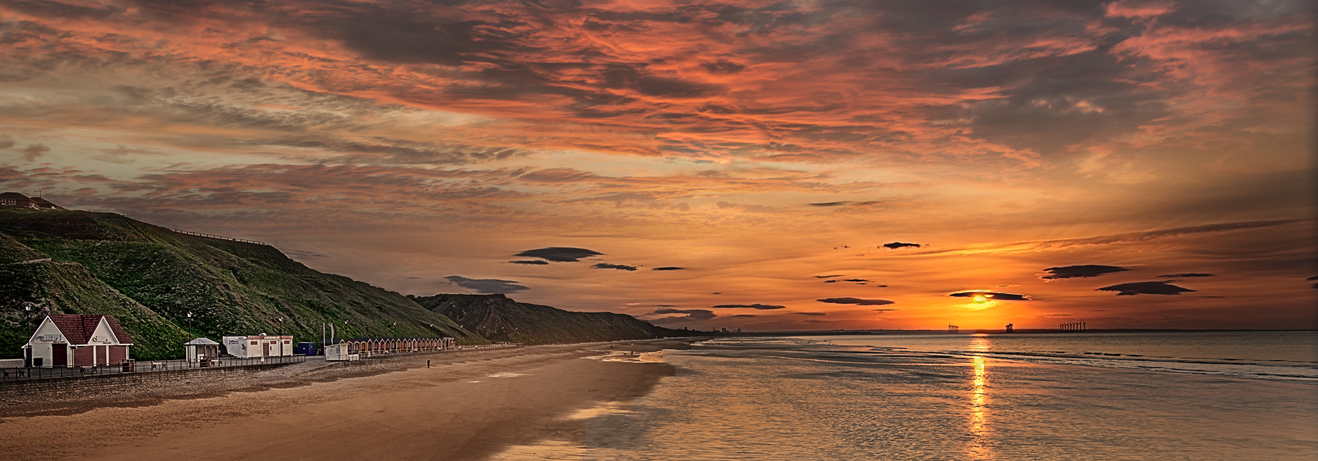 Sunset at Saltburn