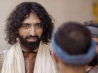 Jesus actively listening to a man who meets him for the first time.