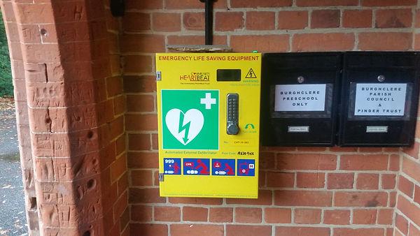 20201021-Burghclere-Defibrillator at Por
