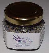 Heaven Scent Lavender Farm Culinary Lavender in a Small Hexagon Bottle