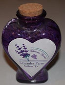 Heaven Scent Lavender Farm Culinary Lavender in a Heart Bottle