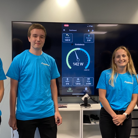 App further developed by this year's summer students at Bouvet