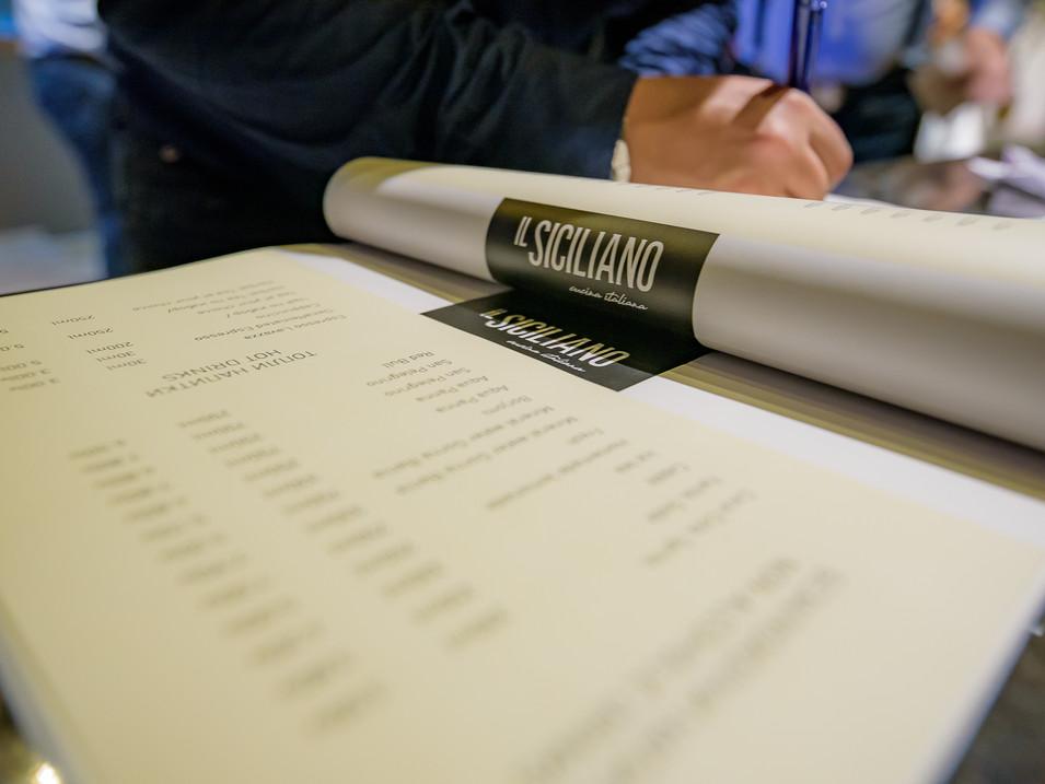 IL Siciliano menu