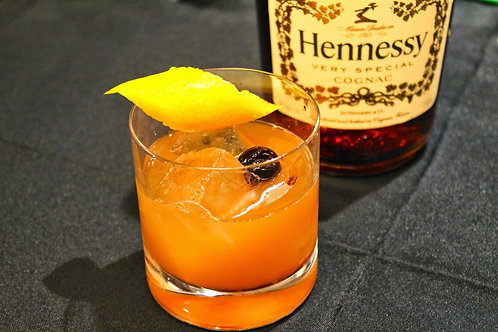 Hennessy & Pineapple (with local honey)