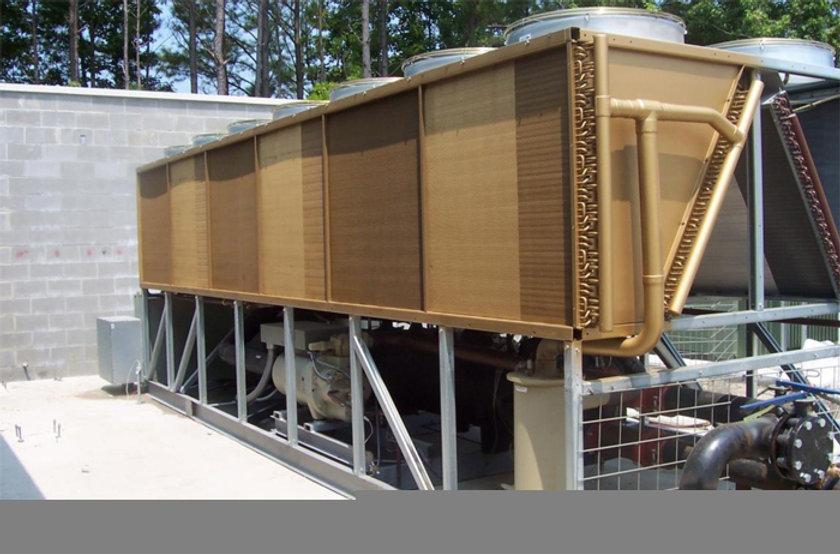 Bronz-Glow coated HVAC unit