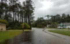 Street flooding after Hurricane Irma