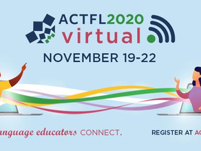 ACTFL 2020 Convention goes virtual: November 19-22, 2020