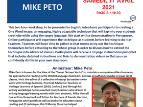 Upcoming AATF workshop with Mike Peto