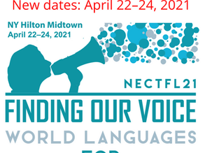 Annual NECTFL Conference moved to April 22-24, 2021