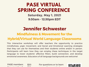 PASE 2021 Spring Virtual Conference with Jennifer Schwester