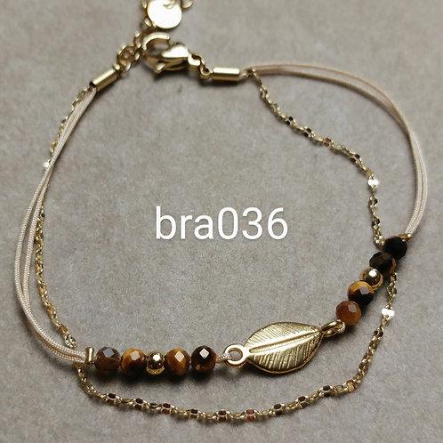 Bracelet Acier 2 rangs OEIL DE TIGRE