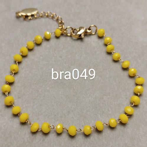 Bracelet Acier VERRE FACETE gold