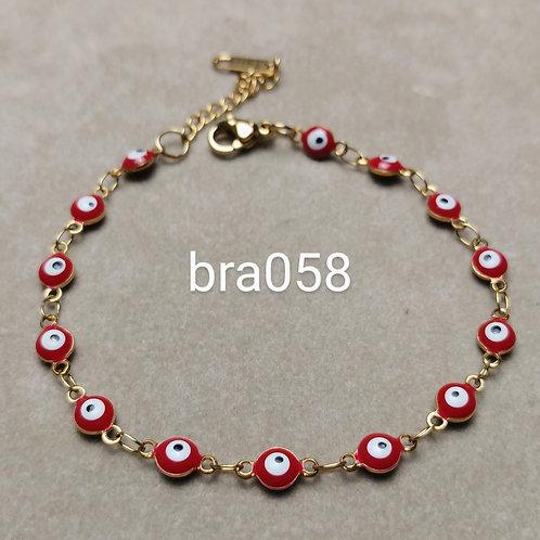 Bracelet Acier OEIL rouge