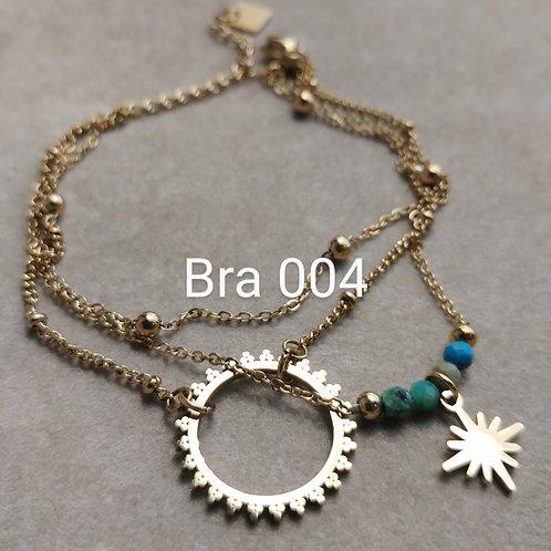 Bracelet Acier 3 rangs ECLIPSE turquoise