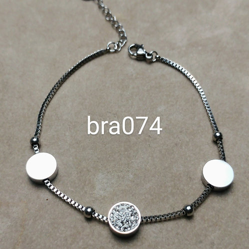 Bracelet Acier PASTILLE strass