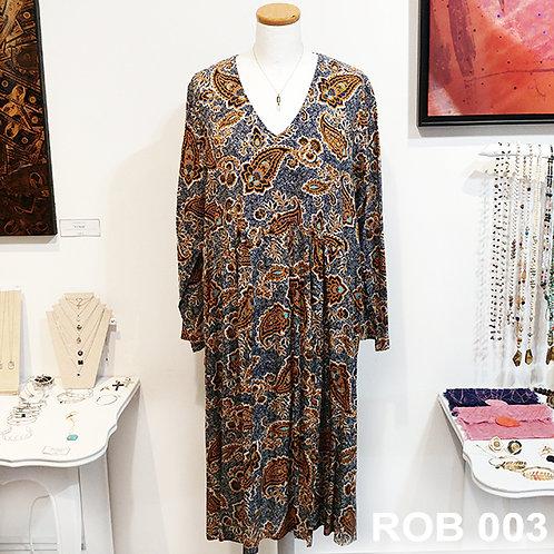 Robe viscose motif cachemire