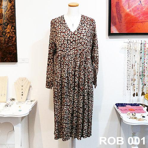 Robe viscose motif panthère