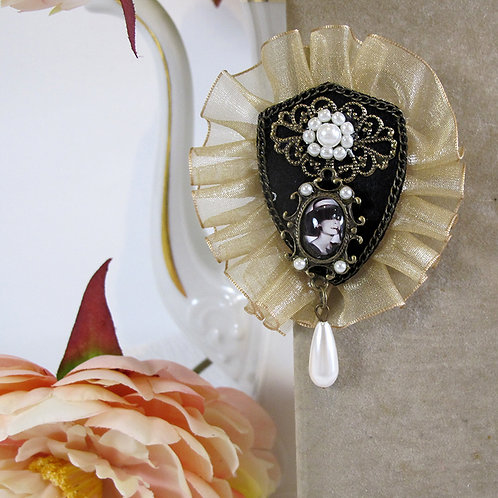 Broche TULLE CHAMPAGNE