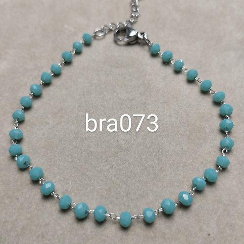 Bracelet Acier VERRE FACETE silver