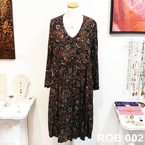 Robe viscose motif floral
