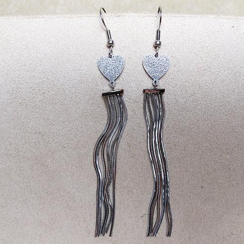 BO COEUR franges acier silver
