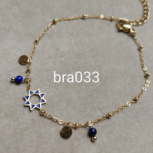 Bracelet Acier émaillé bleu marine