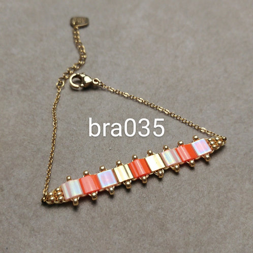 Bracelet Acier MIYUKI orange