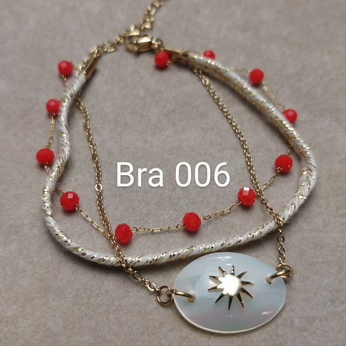 Bracelet Acier 3 rangs COQUILLE