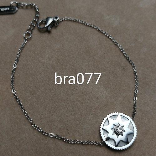 Bracelet Acier ROSACE strass