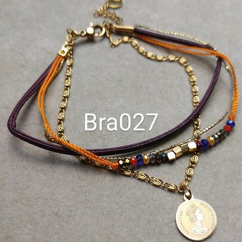 Bracelet Acier 4 rangs - bra027
