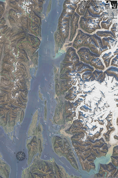 Juneau Icefield Map
