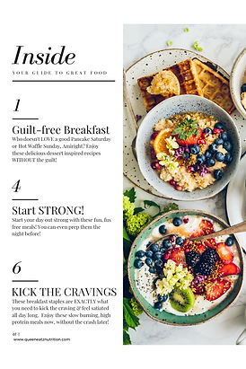 7 Days of Plant-Based Breakfasts -Index.
