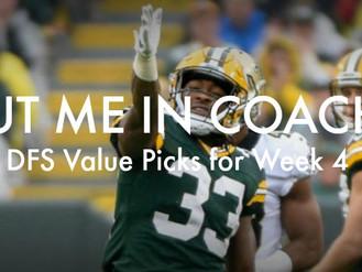 DFS Value Picks for Week 4