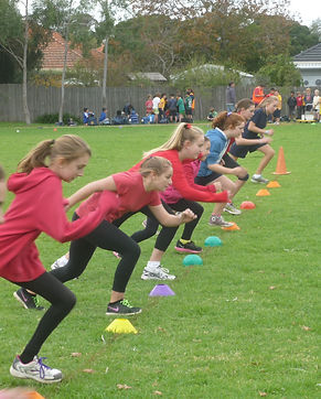 students in a running race