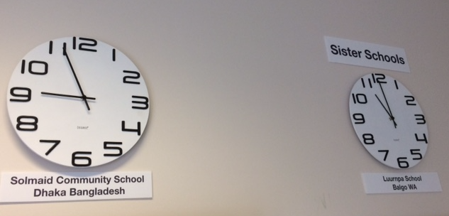 The time at our sister schools